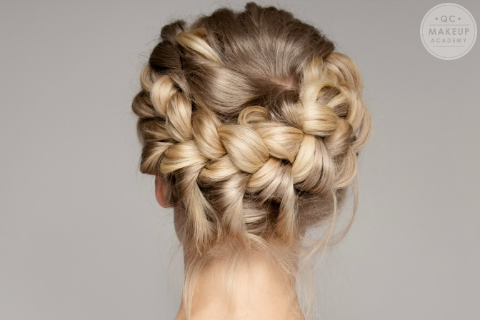 braided hair updo professional hair styling