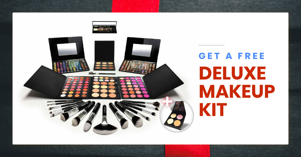 QC Makeup Academy Free Deluxe Professional Makeup Starter Kit with Enrollment