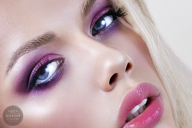 Color of the year ultra violet smokey eye