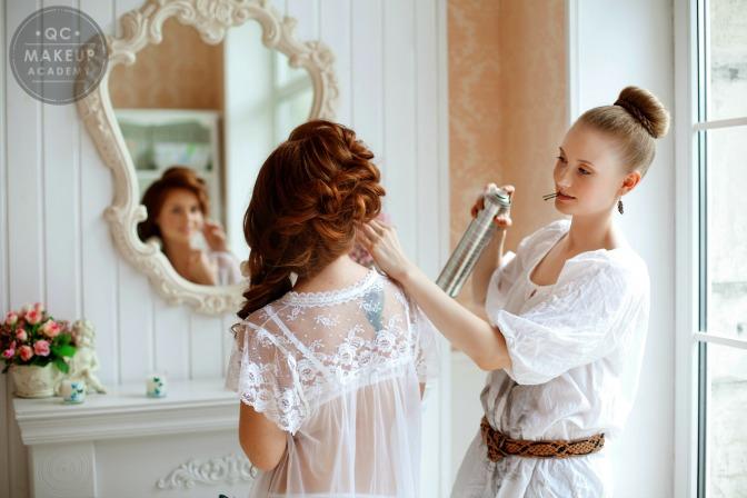 hairstylist at wedding