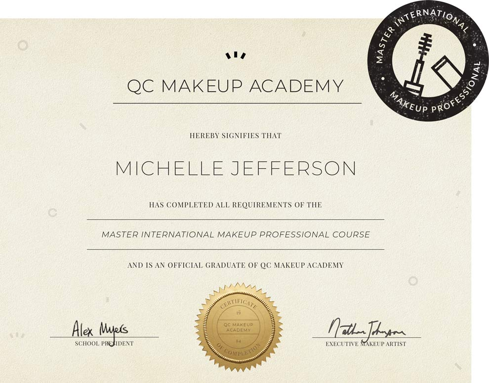 Certifications Diplomas And Licenses Qc Makeup Academy