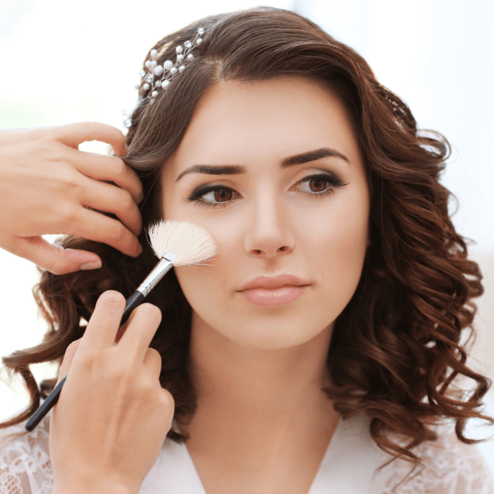 become a makeup artist in small town bridal makeup application