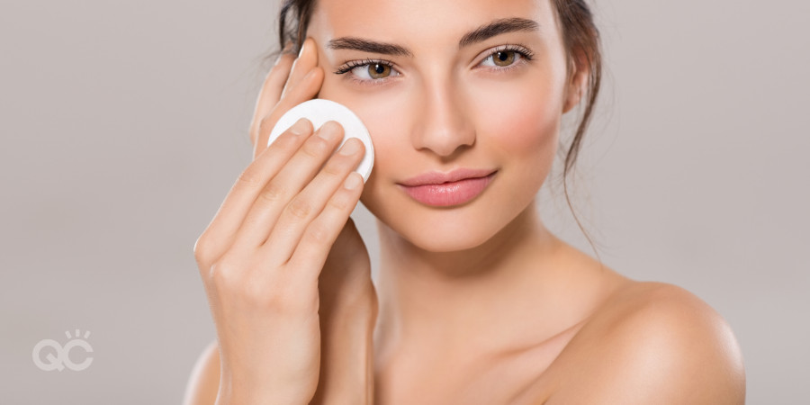 removing makeup and cleansing skin using skincare course knowledge