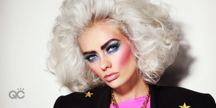 80s makeup trends look clownish and garish now
