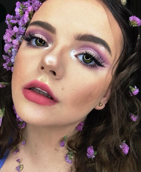 Olivia Hackford has a spring inspired makeup look for her QC Makeup academy feature