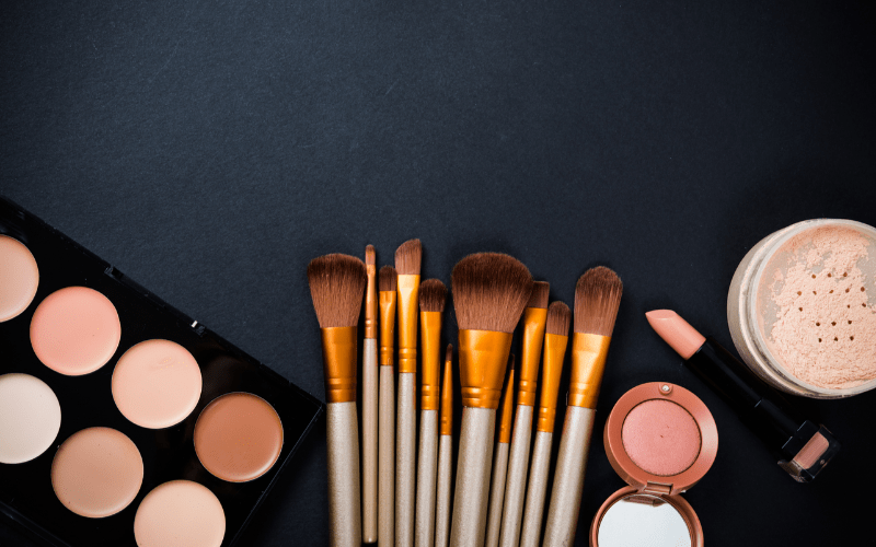 professional makeup products and brushes