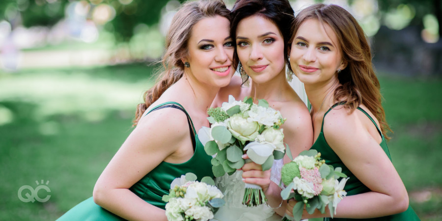professional bridal makeup services for bride and bridesmaids