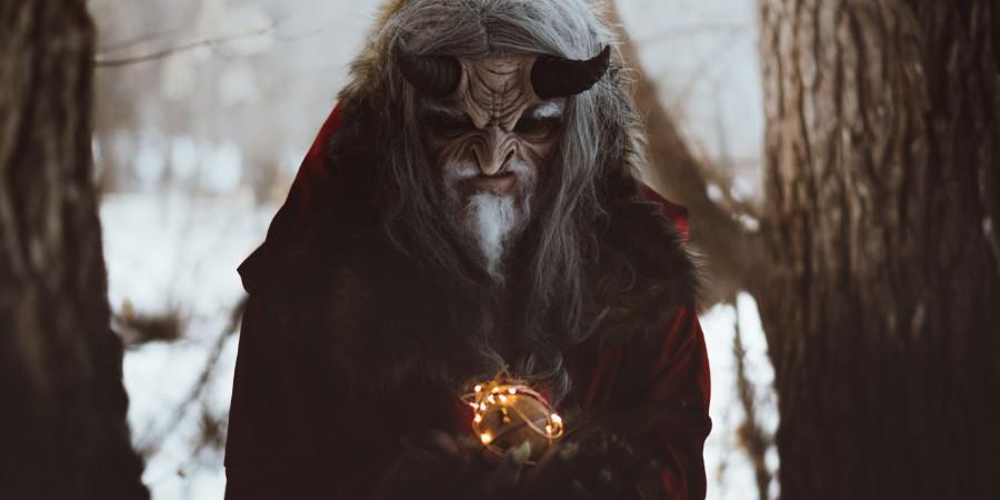 Tyler Russel special effects makeup look - Krampus