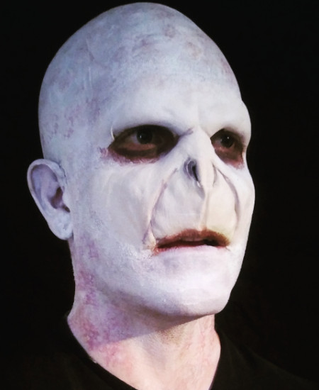 Lord voldemort special effects makeup artistry by Tyler russell a QC Makeup Academy Graduate