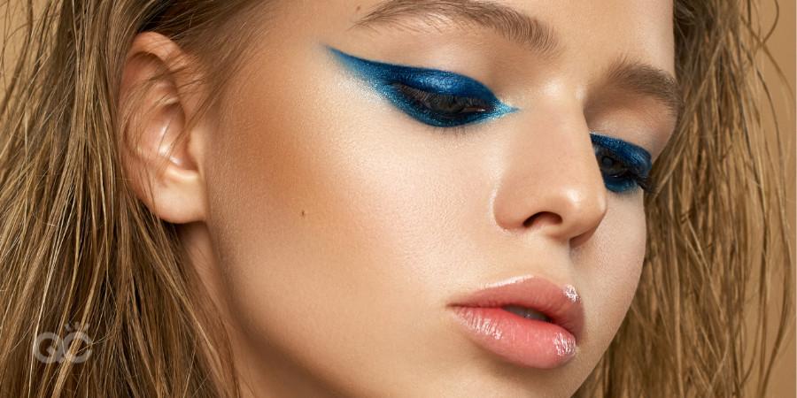 blue avant garde eyeshadow makeup artistry course