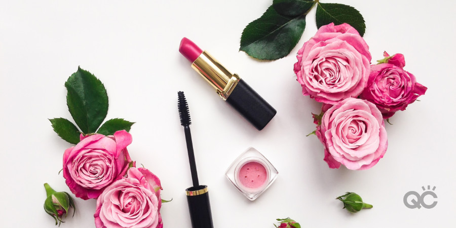 red lipstick mascara roses for valentine's day date night makeup artistry