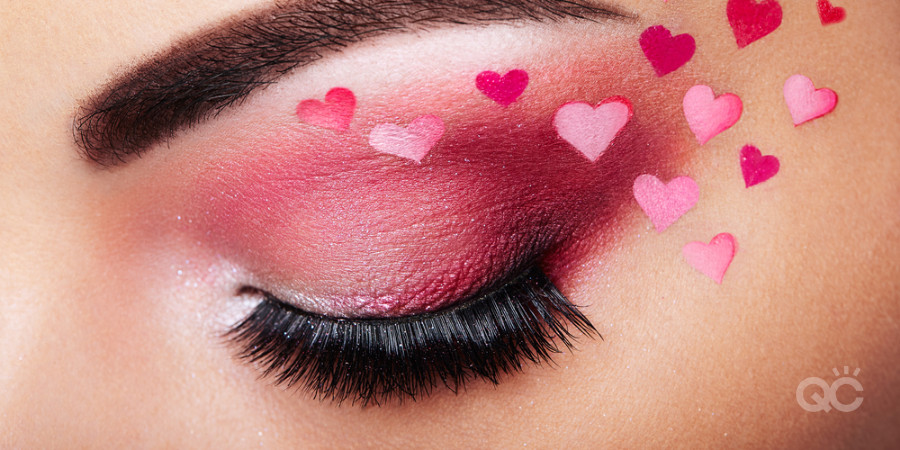valentines day airbrush makeup artistry using stencil for hearts