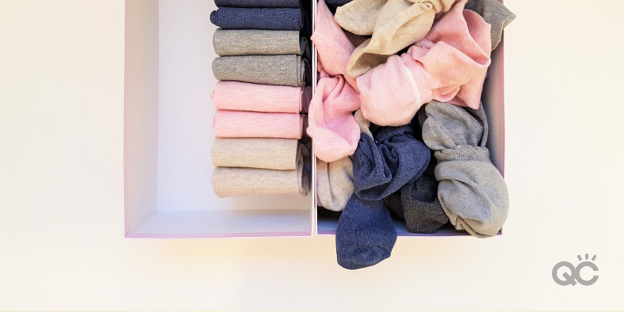 organizing socks tips from fashion stylist