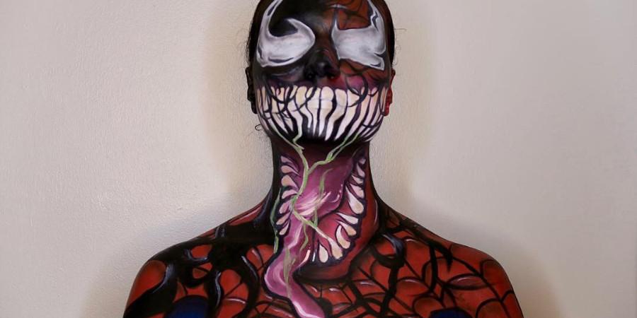 special fx makeup artistry - venom - by Gabrielle Rivera a QC Makeup Academy graduate