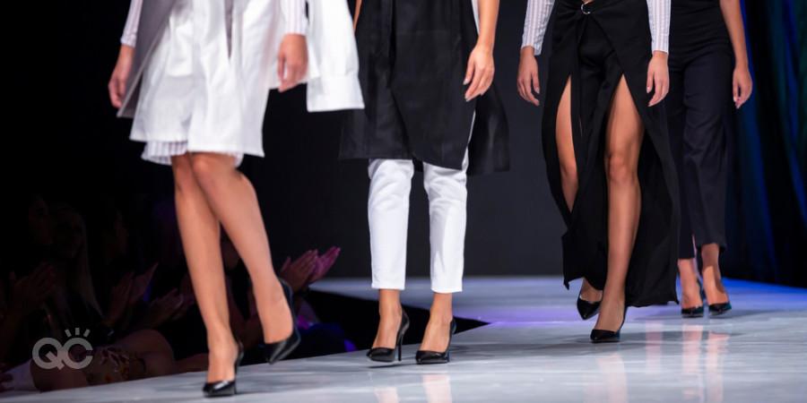 runway models for a fashion designer show