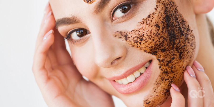 coffee scrub on face