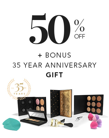 QC Makeup Academy - 35 Year Anniversary Offer for Students and Grads - 50% Off and Free Makeup Kit - Mobile