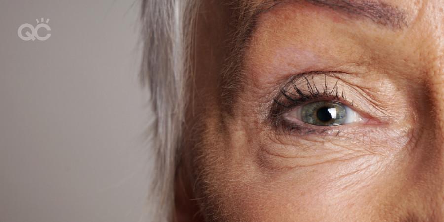 makeup artistry job on mature clients eye