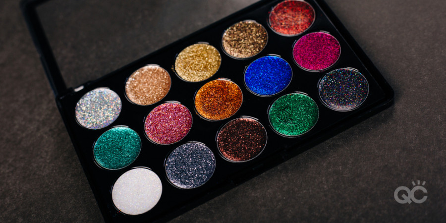 pressed glitter makeup palette