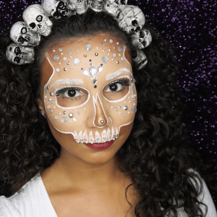 Gabrielle Rivera special FX makeup tutorial skull