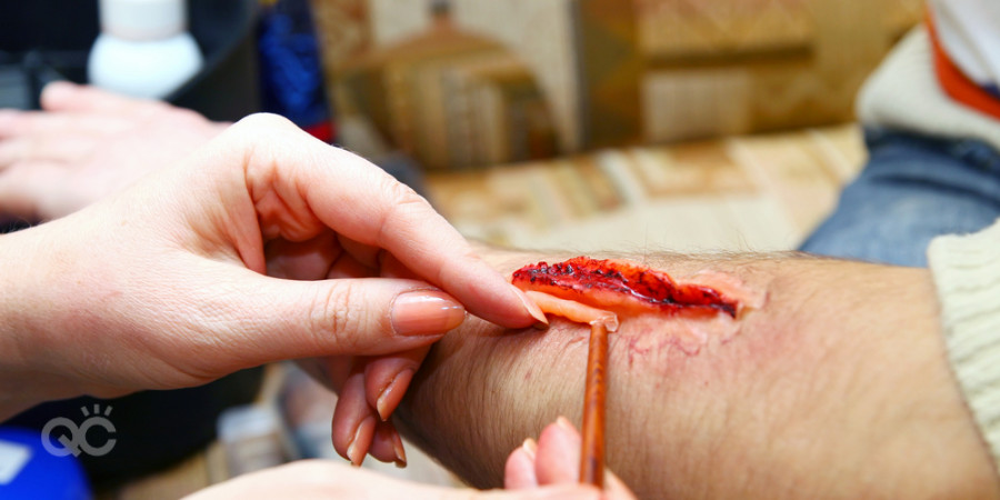 fake wound prosthetic special effects makeup kit