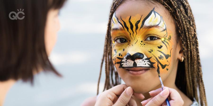 cream face paint for children
