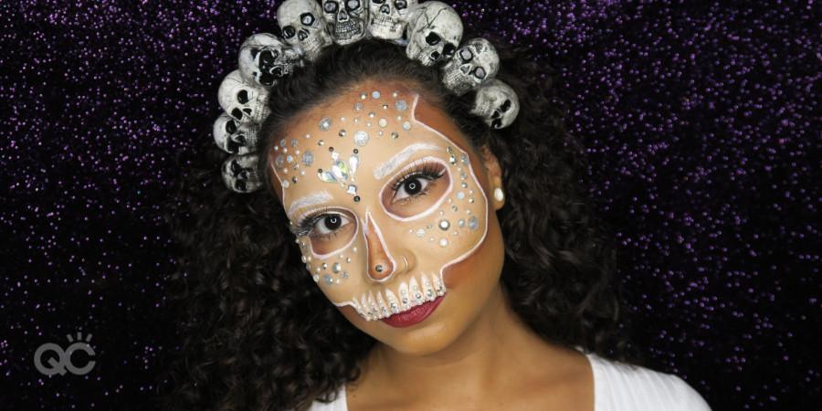 Gabrielle Rivera QC makeup academy student ambassador jewel special fx makeup skull