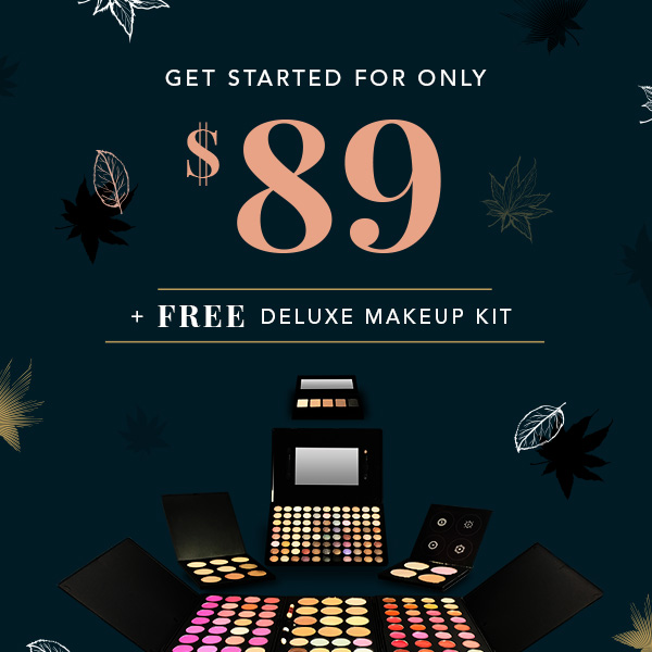 QC Makeup Academy - Autumn Promotion Special Offers Image - Get Started for $89 + Get A Free Deluxe Makeup Kit