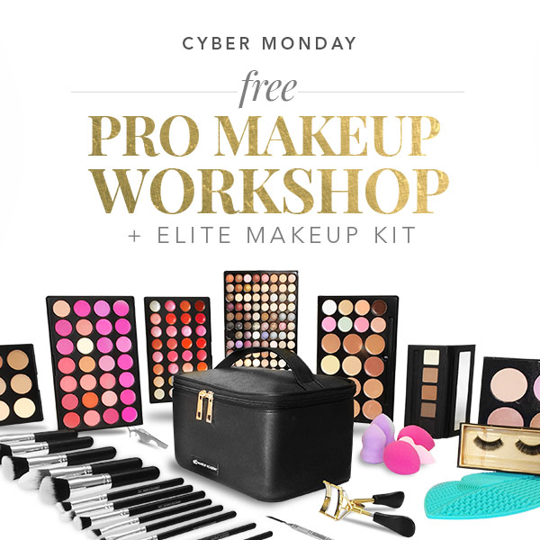 cyber monday - special offers- free pro makeup workshop