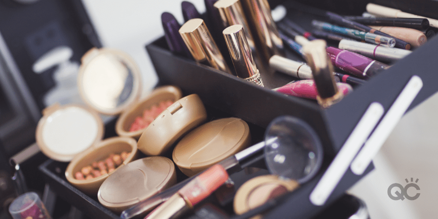 professional makeup kit full of products