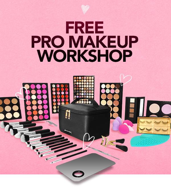 QC Makeup Academy February 2020 Offer - Mobile Image - Free Makeup Workshop