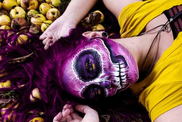 Katey Stevens sugar skull makeup look