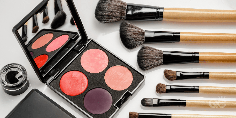 4 Ways to Keep Up Makeup Practice At Home Blog - Makeup Palette and Brushes on Table