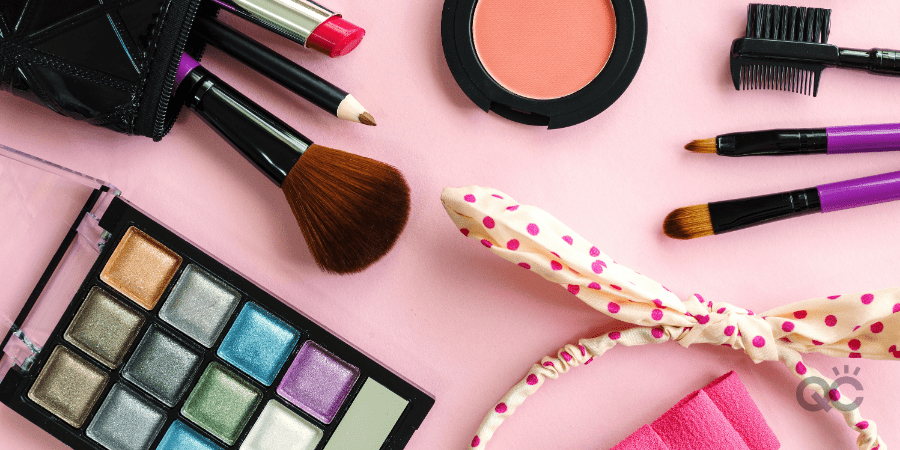 Maximize Time At Home With Makeup Artist Certification Blog - Makeup on Pink Table