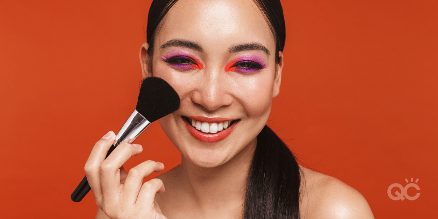 Makeup model apply blush on cheeks: getting your makeup artist certification article