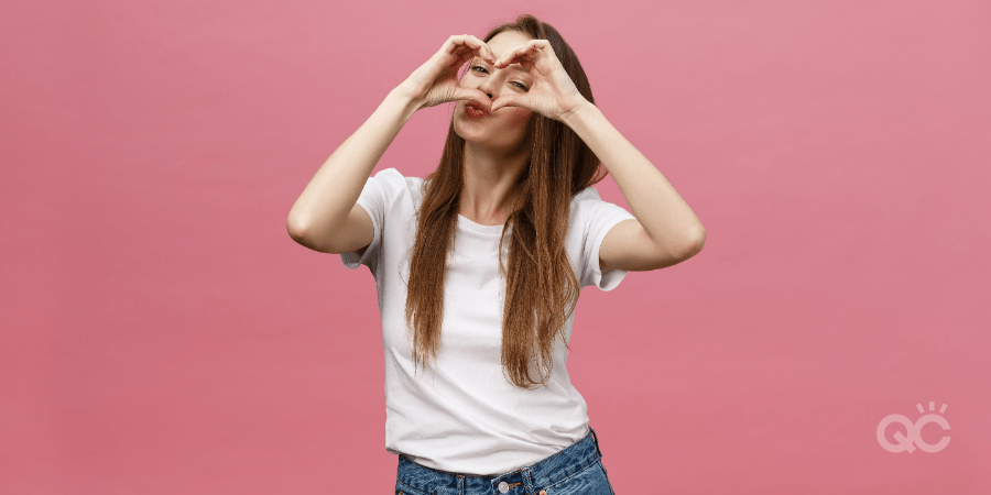 Maximize Time At Home With Makeup Artist Certification Blog - Woman Making Heart Shape with Hands