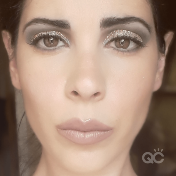 qc ambassador nadia calabro - smoky eye with glitter look