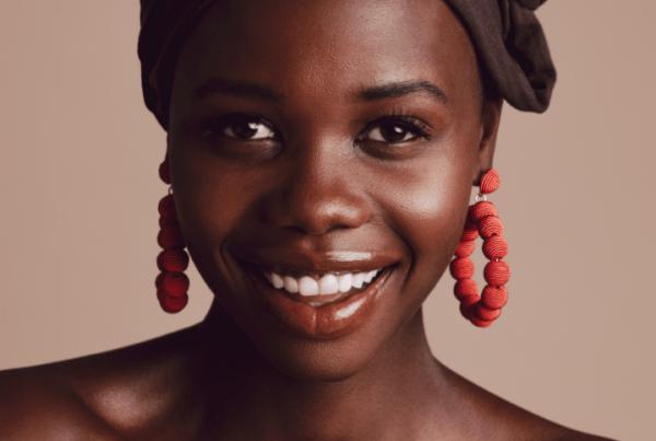 makeup training for deeper skin tones - beautiful black model