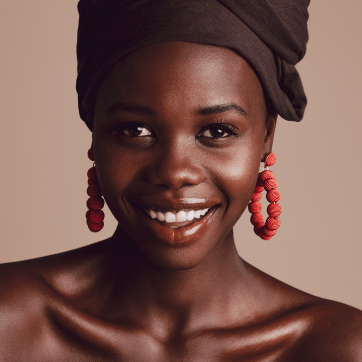 makeup training for deeper skin tones - beautiful black model