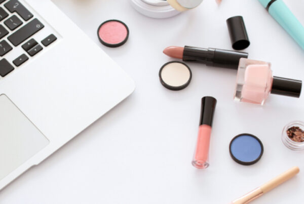 QC Makeup Academy makeup products on table