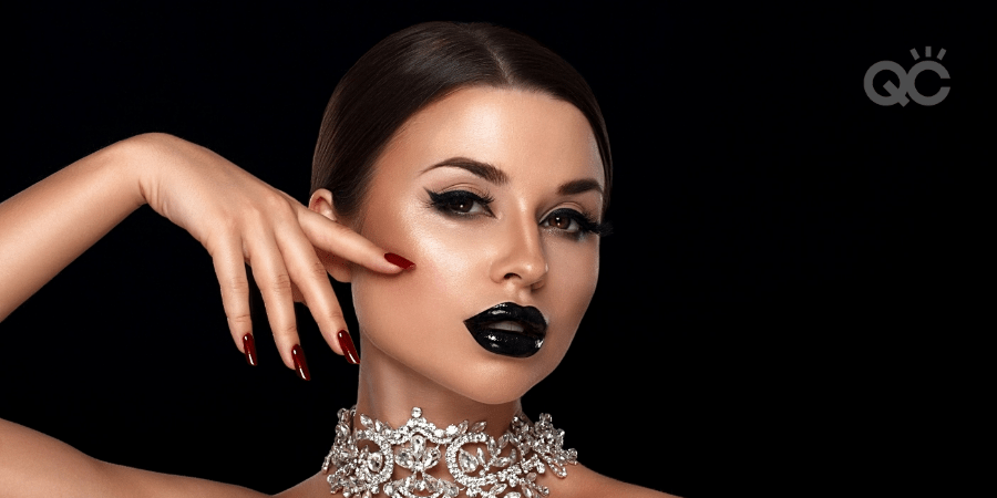 high fashion model wearing makeup for photoshoot