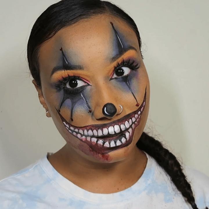 special effects makeup tutorial rainbow clown gabrielle rivera feature image
