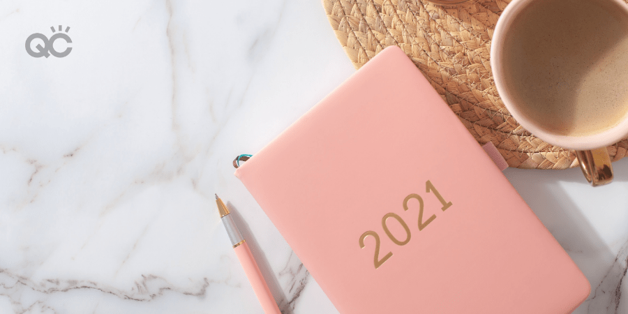 makeup classes article 2021 notepad on table