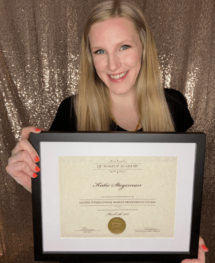 adult acne article, Apr 14 2021, Katie Stegeman holding Skincare certification