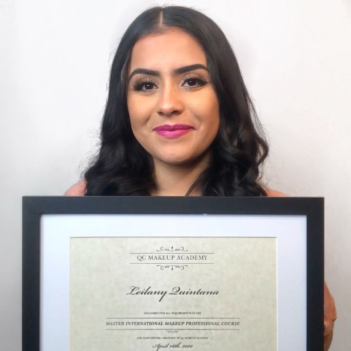QC Makeup Academy graduate feature, Leilany Quintana, Feature Image