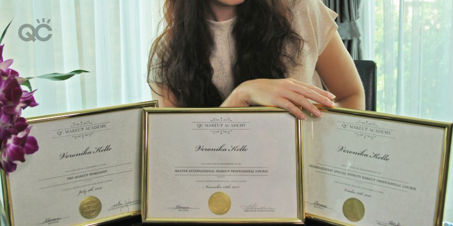 Veronika Kelle with QC certifications