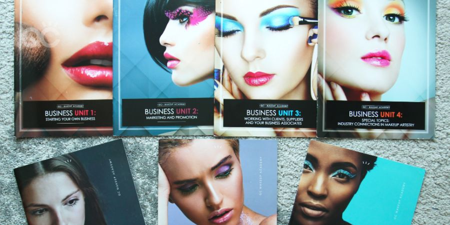 Veronika's textbooks for the Master Makeup Artistry Course