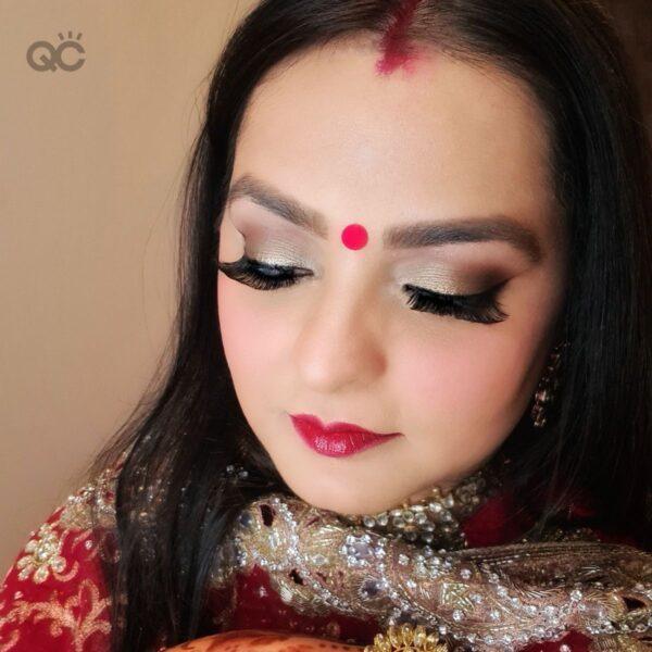 Harleen Kaur Talwar portfolio image 5, Asian bridal makeup on self