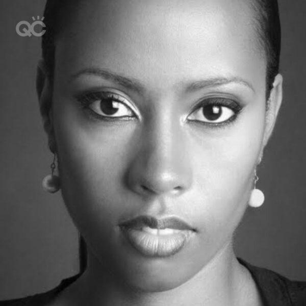 Makeup portfolio Paula Alleyne headshot black and white