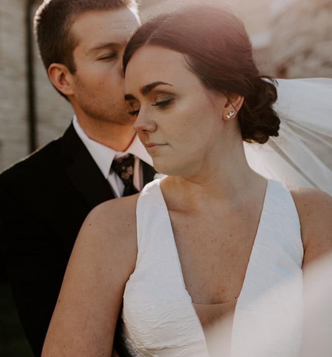 Bride and Groom, clients of Katie Stegeman